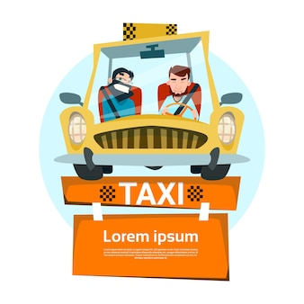 Service de taxi two man cab city transport