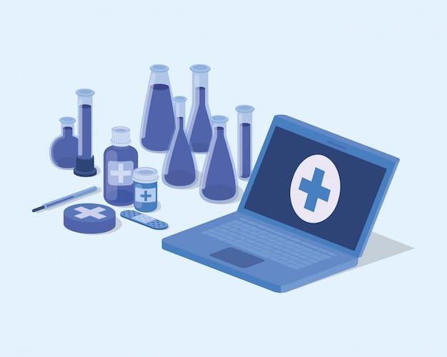 Service de télémédecine portable avec tests sur tubes