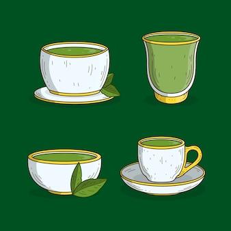 Service à thé matcha