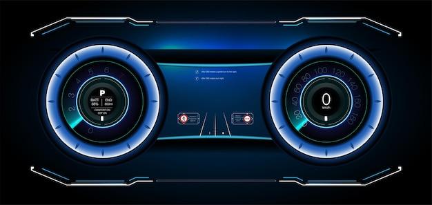 Service de voiture dans le style du hud, interface utilisateur infographique sur les voitures, analyse et diagnostic dans le style hud, interface utilisateur futuriste, réparations de voitures, service automobile, mécanismes de voitures, service de voiture hud. tableau de bord