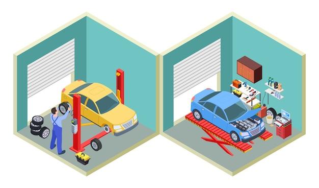 Service de voiture isométrique