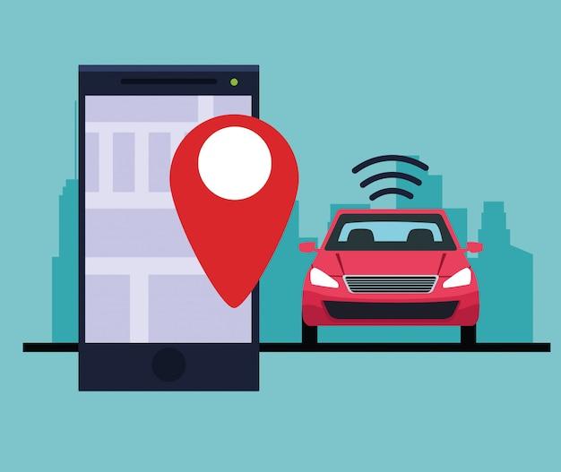 Service de voiture de localisation gps