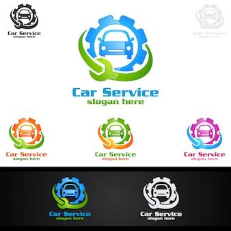 Service de voiture vector logo design