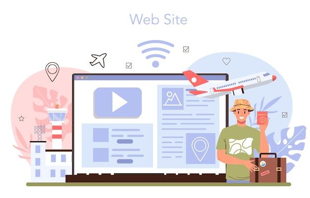 Services d'agence de voyages service en ligne ou transfert de plate-forme