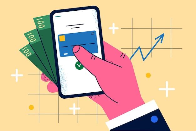 Services bancaires mobiles et gains sur internet