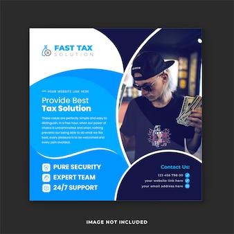 Services de consultation en matière de remboursement d'impôts et solutions d'experts en comptabilité publication sur les réseaux sociaux