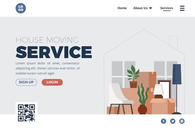 Services de déménagement de maison - page de destination