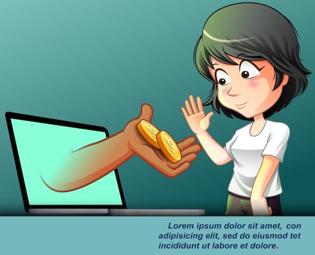 Services financiers en ligne.