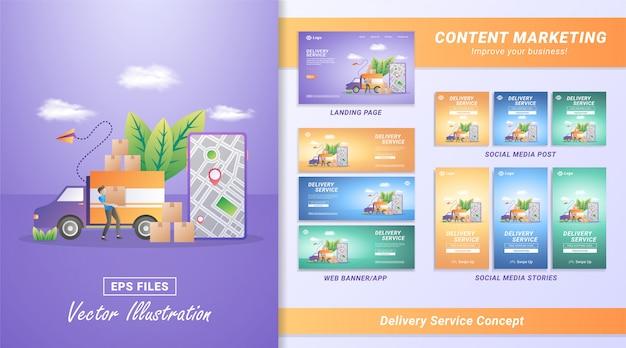 Services de livraison de marchandises en ligne