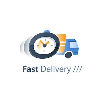 Services de livraison rapide, entreprise de logistique, délai d'attente, retard de commande
