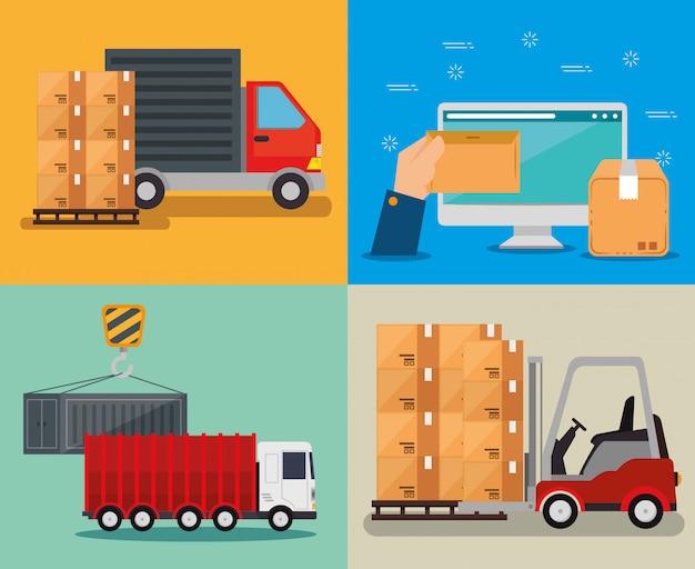 Services logistiques avec ordinateur