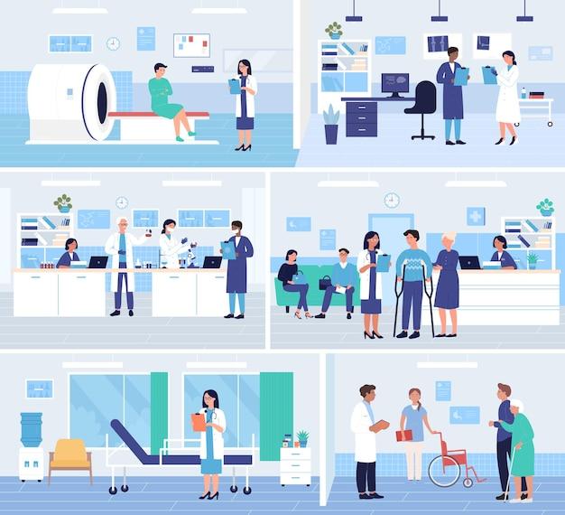Services de médecine hospitalière, ensemble de rendez-vous chez le médecin