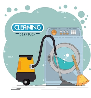 Services de nettoyage emblèmes et logos