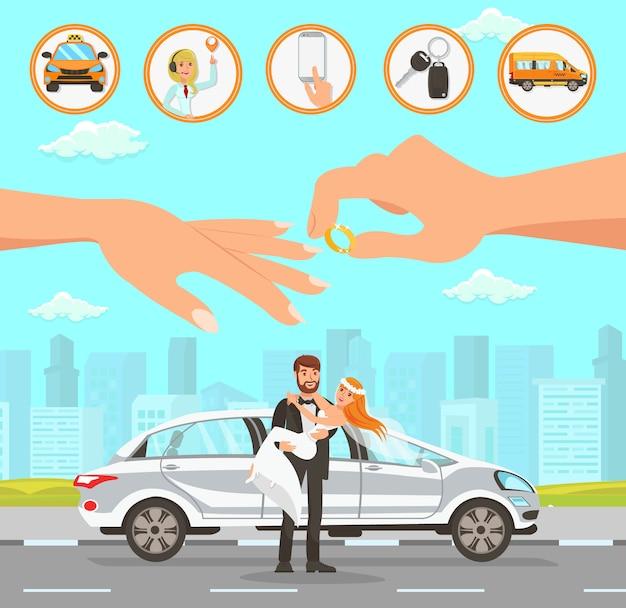 Services de taxi et de chauffeur au mariage