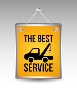 Services de voiture au cours de l'illustration vectorielle fond gris