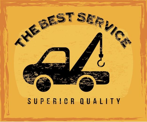 Services de voiture au cours de l'illustration vectorielle fond vintage