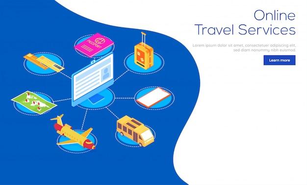Services de voyages en ligne.