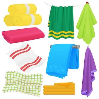 Serviettes drôles de dessin animé. serviette en coton pour bain. serviette en tissu pour l'hygiène