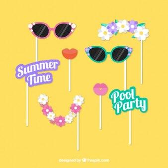 Set d'accessoires d'été pour photoboth