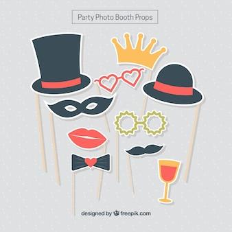 Set d'accessoires de fête pour photoboth