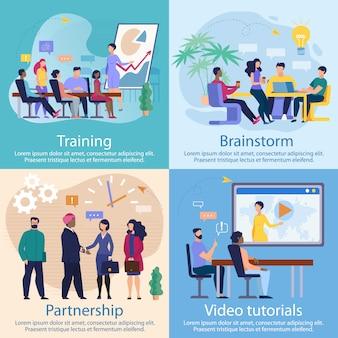 Set advertising banner tutoriels vidéo