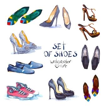 Set aquarelle chaussures