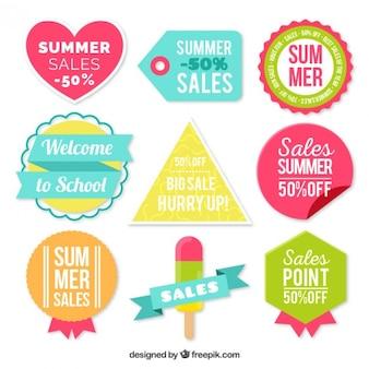 Set d'autocollants promotionnels d'été