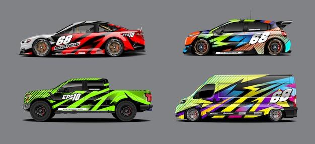 Set d'autocollants de voiture pour rallye et course