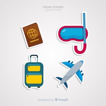Set d'autocollants de voyage
