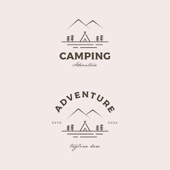 Set aventure badge logo design vector illustration