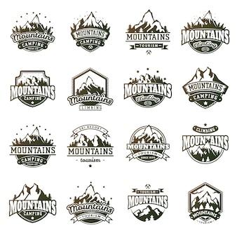 Set badge extérieur montagne