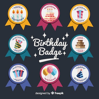 Set de badges d'anniversaire