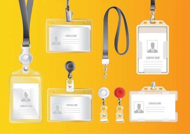 Set de badges et cartes d'identité