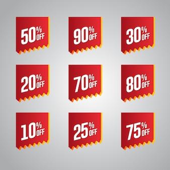 Set de badges discount