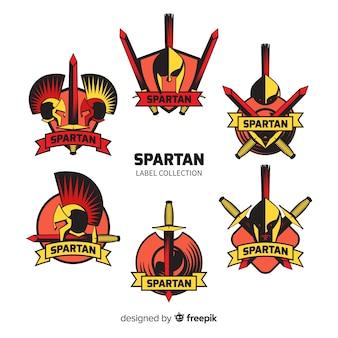 Set de badges spartiates