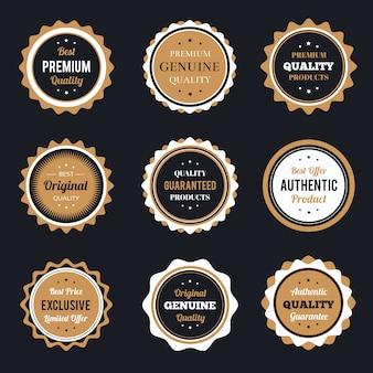 Set de badges vintage rétro
