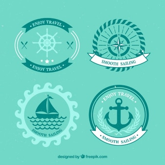 Set de badges de voile dans la conception plate