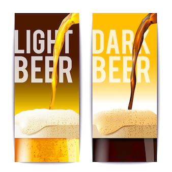 Set de bannière de bière