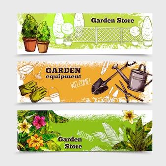 Set de bannière de jardin