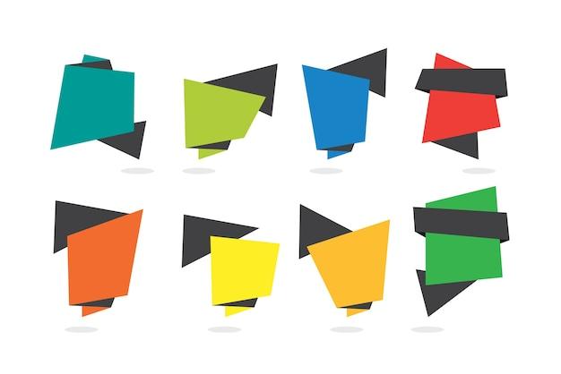 Set de bannière moderne coloré