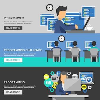 Set de bannière programmeur