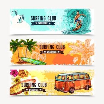 Set de bannière de surf