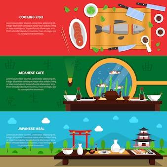 Set de bannière de sushi