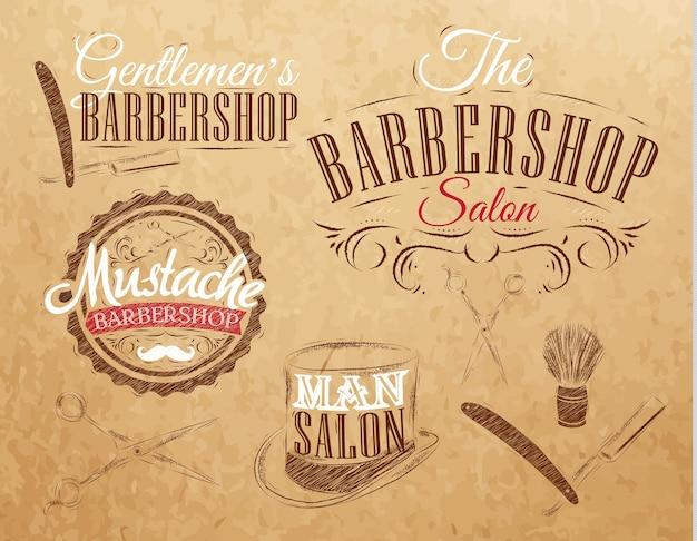 Set barbershop brun
