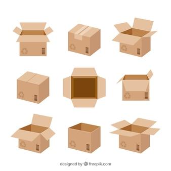 Set de boîtes en carton à l'expédition