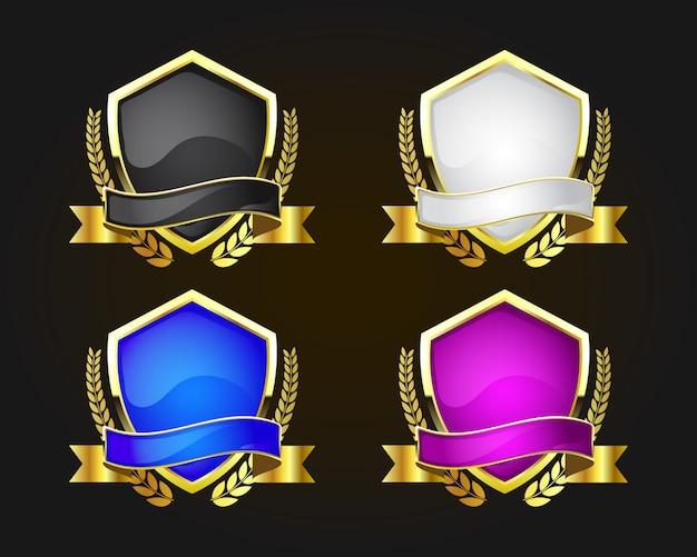 Set de boucliers couleur or 6