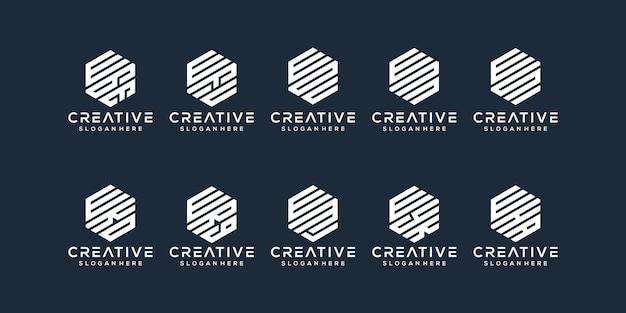 Set bundle lettre w logo design