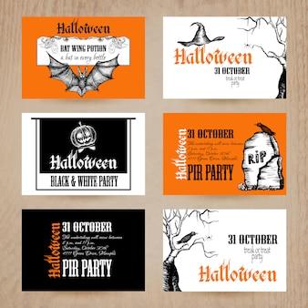 Set de cartes d'halloween
