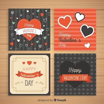 Set de cartes de saint valentin