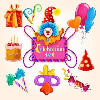 Set de célébration coloré